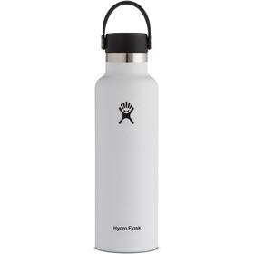 Hydro Flask Standard Mouth Stainless Steel Flaske med Standard Flex Cap 621ml, hvid